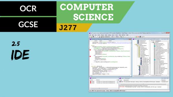 OCR GCSE (J277) SLR 2.5 IDEs