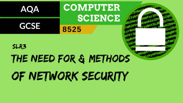 GCSE AQA SLR3 The need for and methods of network security