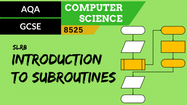 GCSE AQA SLR8 Introduction to subroutines