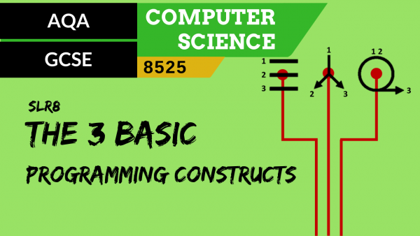 GCSE AQA SLR8 The use of the three basic programming constructs