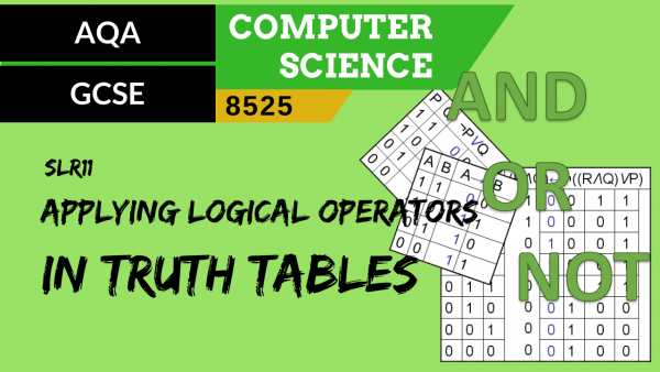 GCSE AQA SLR11 Applying logical operators in truth tables to solve problems