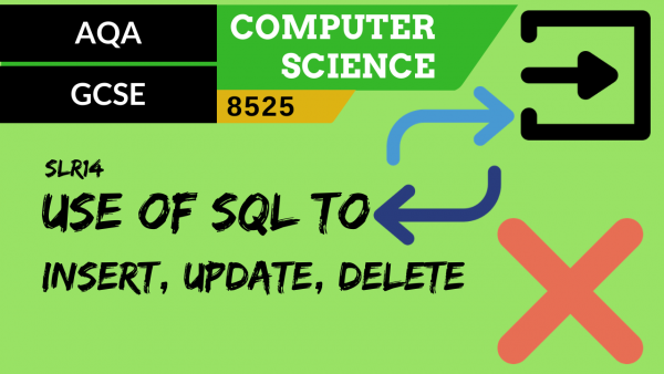 GCSE AQA SLR14 The use of SQL to insert, update, delete data in a relational database