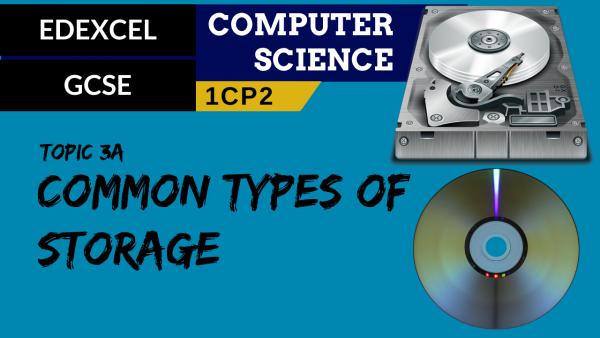 GCSE EDEXCEL Topic 3A Common types of storage