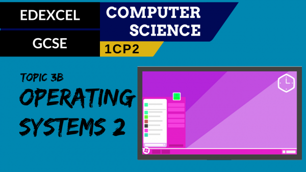 GCSE EDEXCEL Topic 3B Operating systems part 2